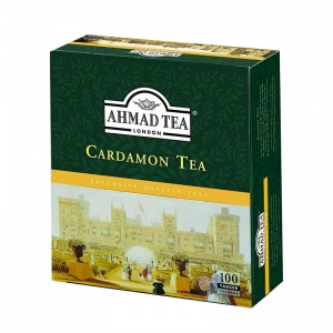 Ahmad Tea London - Cardamon Tea - Kardamonowa - 100 torebek (z zawieszką)