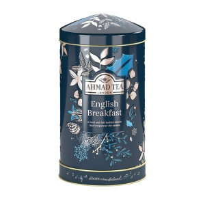 Twilight Round Music Caddy English Breakfast Ahmad Tea 80g  Christmas- pozytywka