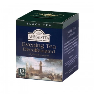 Ahmad Tea London - Evening Tea Decaffeinated - 10 torebek (w kopertach aluminiowych)