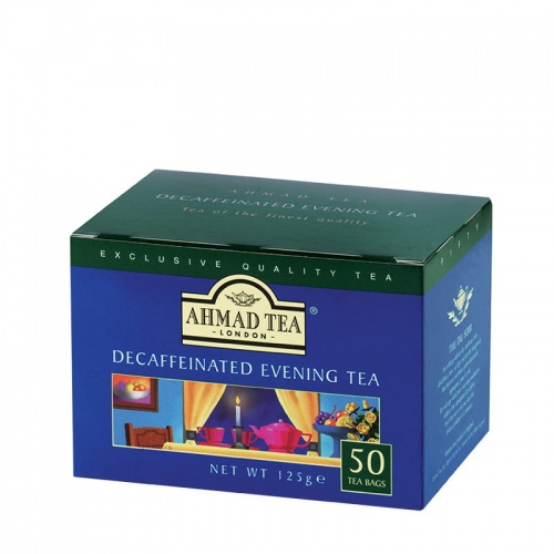 Ahmad Tea London - Decaffeinated Evening Tea - 50 okrągłych torebek